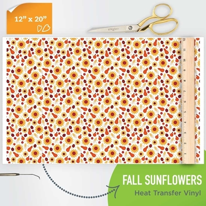 Picture of Happy Crafters Pattern HTV - Fall Sunflowers