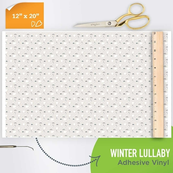 Picture of Happy Face Pattern Adhesive Vinyl - Winter Lullaby