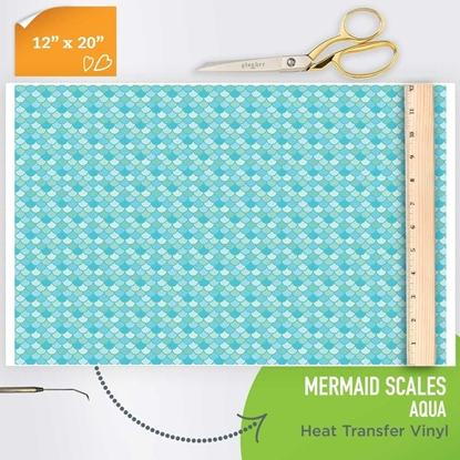 Picture of Happy Crafters Pattern HTV - Aqua Mermaid Scales