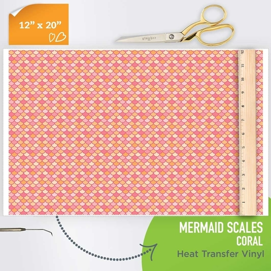 Picture of Happy Crafters Pattern HTV - Coral Mermaid Scales