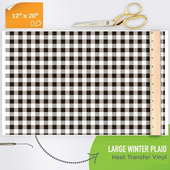 Picture of Happy Crafters Pattern HTV - Large Winter Plaid