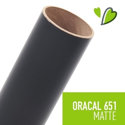 Picture of Oracal 651 Matte Adhesive Vinyl Black - 50 Yard Roll