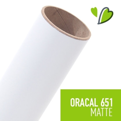Picture of Oracal 651 Matte Adhesive Vinyl White - 50 Yard Roll