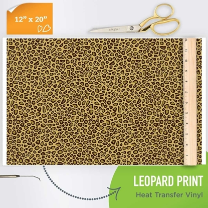 Picture of Happy Crafters Pattern Iron On Vinyl - Leopard