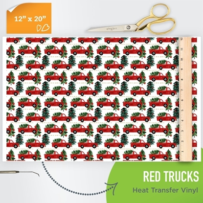 Picture of Happy Crafters Pattern HTV - Red Trucks