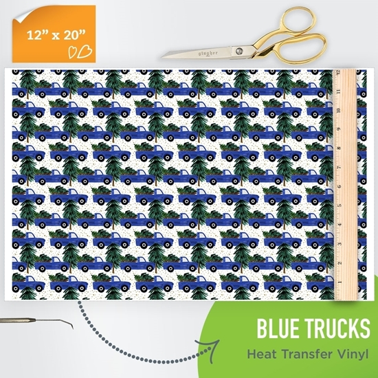 Picture of Happy Crafters Pattern HTV - Blue Trucks