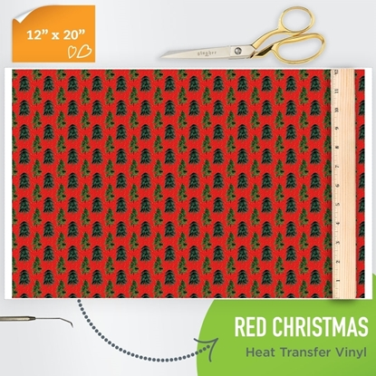 Picture of Happy Crafters Pattern HTV - Red Christmas