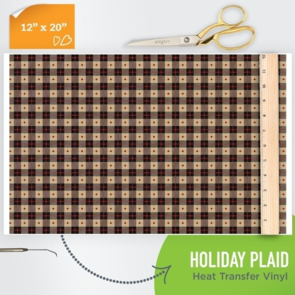Picture of Happy Crafters Pattern HTV - Holiday Plaid