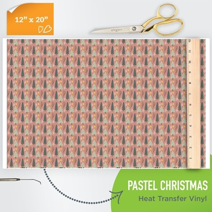 Picture of Happy Crafters Pattern HTV - Pastel Christmas