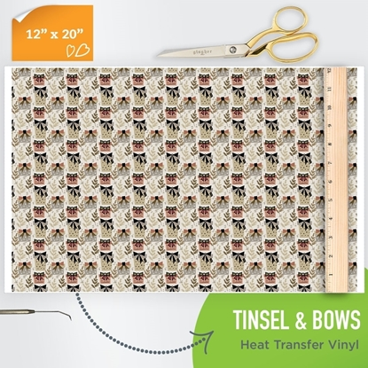 Picture of Happy Crafters Pattern HTV - Tinsel and Bows