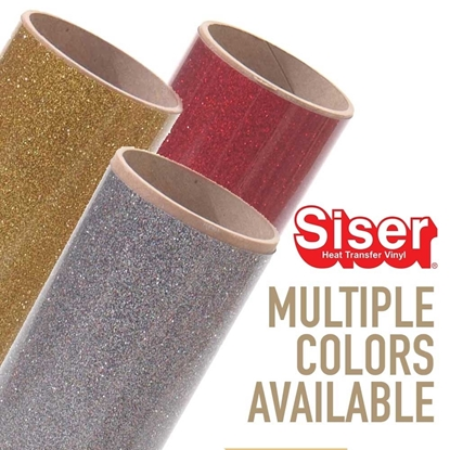 "Picture of Siser® Glitter Heat Transfer Vinyl - 20"" Rolls"