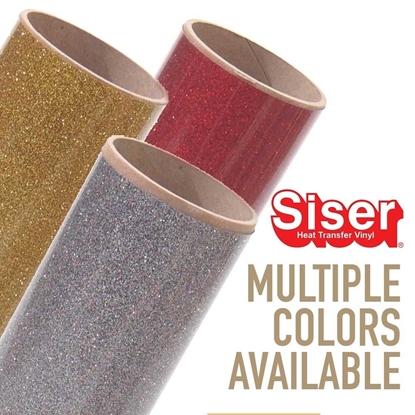 """Picture of Siser®Glitter Heat Transfer Vinyl - 20"""" Rolls"""