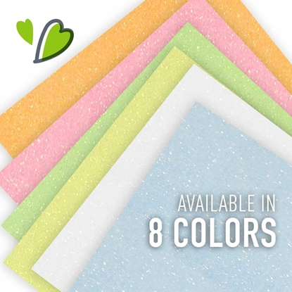 Picture of Siser® Glitter Heat Transfer Vinyl Sheets - Neon & White