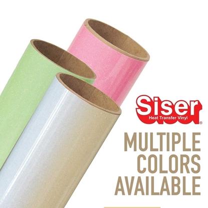 """Picture of Siser® Glitter Heat Transfer Vinyl 20"""" Rolls - Neon & White"""