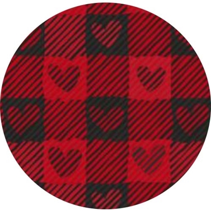 Picture of Happy Crafters Pattern HTV - Valentine Red Plaid Hearts