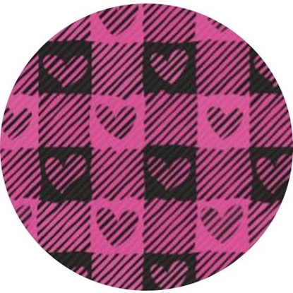 Picture of Happy Crafters Pattern HTV - Valentine Pink Plaid Hearts