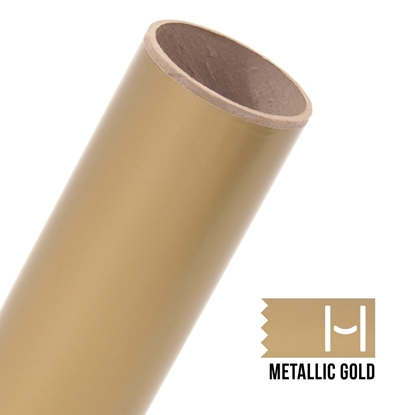 Picture of Oracal 651 Glossy Adhesive Vinyl Metallic Gold - 10 Yard Roll