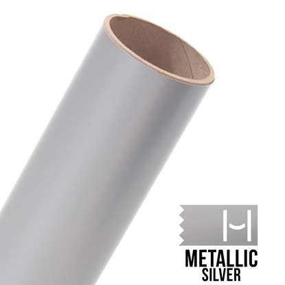 Picture of Oracal 651 Glossy Adhesive Vinyl Metallic Silver - 10 Yard Roll